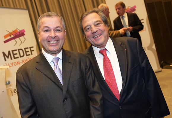 22.  Philippe Guerand (CCI Lyon) et François Turcas, président de la CGPME Rhône-Alpes