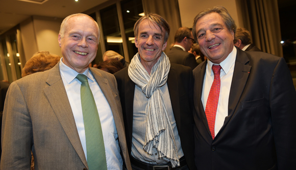 24. Bernard Gaud (Medef Régional), Bruno Rousset, président d'April et François Turcas, président de la CGPME Rhône-Alpes