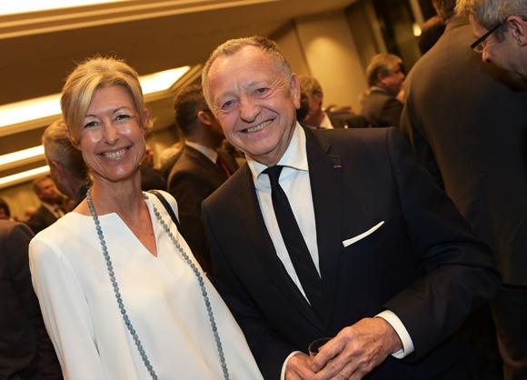 25. Laurence Balas, conseillère municipale et Jean-Michel Aulas, président de l'OL