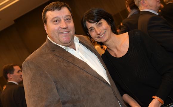 27. Bruno Vernay (Le Progrès) et Anne-Marie Baezner (GL Events)