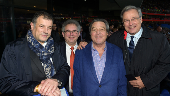 28. Gilles Demange (Orosa), Alain Audouard, président de la Chambre de Métiers, François Turcas, président de la CGPME Rhône-Alpes et Emmanuel Imberton, président de la CCI de Lyon