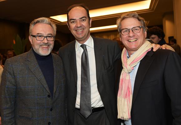 30. Erick Roux de Bézieux (Syntagme), Benoît Licour (Maïa) et Pierre Doucet JFK Média)