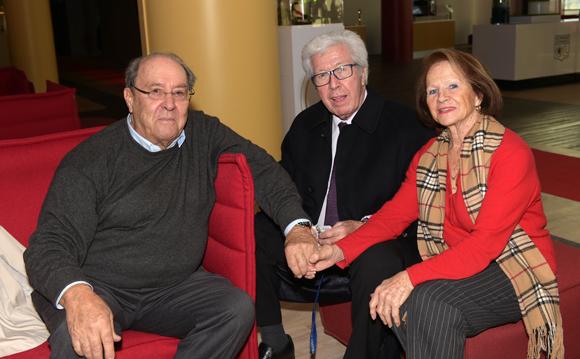 3. Maitre André Soulier, Jean Perrot, ancien président de l'OL et son épouse Danièle