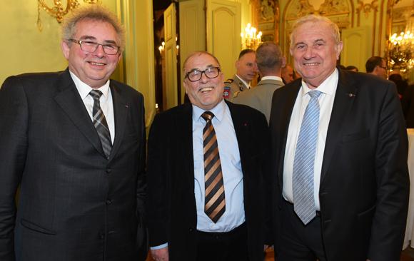 3. Alain Audouard, président de la Chambre de Métiers, Kamel Kabtane, recteur de la grande mosquée de Lyon et Michel Forissier, maire de Meyzieu