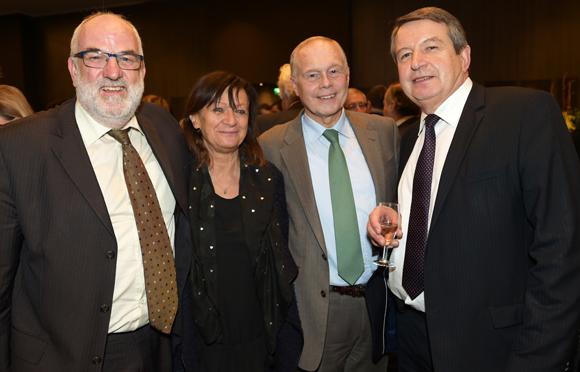 31. Jean-Roger Regnier (CCI Métropole), Marie-Françoise Villard (News), Bernard Gaud (Medef Régional) et François Rieffel (NCT)