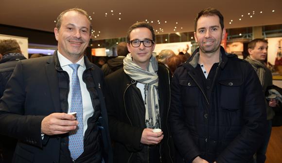 3. Alain Potiron, David Ecomard (Champagne Mumm) et Cédric Legouill (Cuisine & Dépendance)