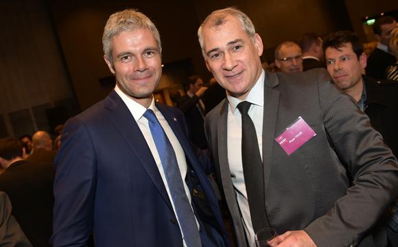 34. Laurent Wauquiez, président du Conseil Régional Auvergne Rhône-Alpes et Roger Touzé (Medef)