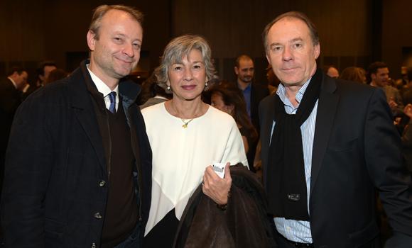 36. Marco Polisson (Lyon People), Florence Verney-Carron, vice-présidente du Conseil régional et Yves Rioton (Séminaires Business)