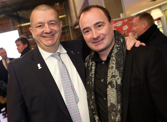 4. Christophe Marguin, président des Toques Blanches Lyonnaises et Fabrice Bonnot (Cuisine & Dépendance)
