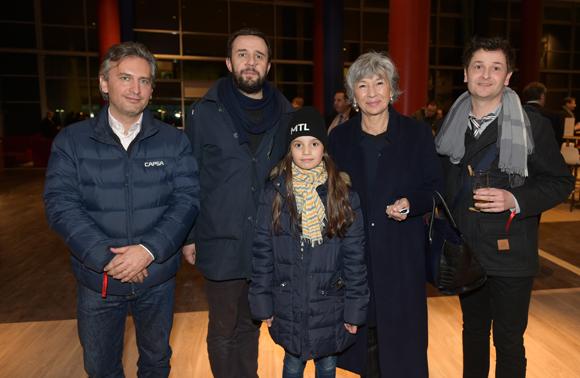 43. Cédric Denoyel, Vincent Carry, sa fille Mathilde, Florence Verney Carron, vice-présidente du Conseil régional et Damien Beguet (Arty Farty)