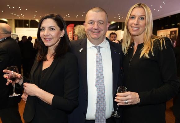 50. Suzanne Givet (Brake France), Christophe Marguin, président des Toques Blanches Lyonnaises et Aline Germain (DS Automobile)