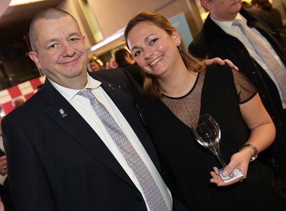 59. Christophe Marguin, président des Toques Blanches Lyonnaises et Sophie Castel (Château & Domaines Castel)