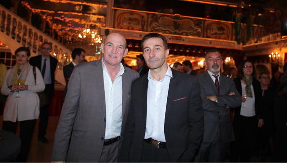 24. Eric Destarac (CFE-CGC) et le commissaire divisionnaire Jean-Marc Rebouillat