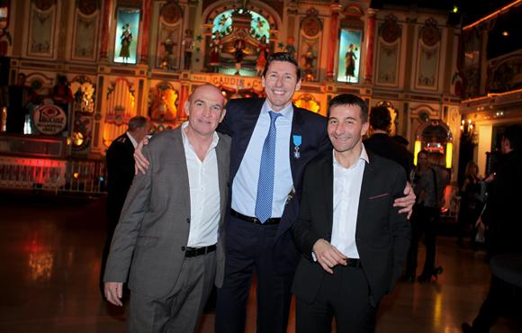 36. Maître Cottet-Bretonnier entouré d'Eric Destarac (CFE-CGC) et Jean-Marc Rebouillat, commissaire divisionnaire
