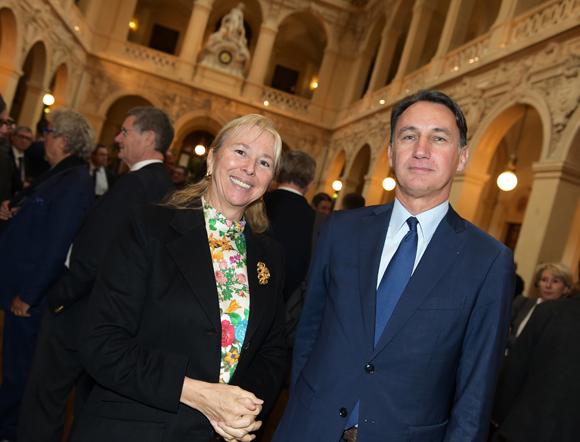 10. Elisabeth Ayrault, présidente de la CNR et Christophe Gruy, président du groupe Maia