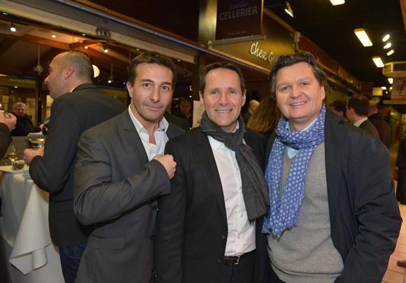 12. Le commissaire divisionnaire Jean-Marc Rebouillat, Thierry Bruel (Estête) et Franck Dietsch (Comète Group)