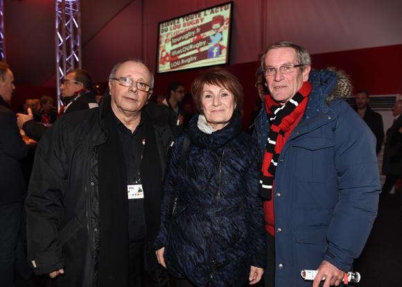 15. Léandre Borbon (LOU Rugby), Andrée Loscos, adjointe aux Sports de Vénissieux et Bertrand Tissot