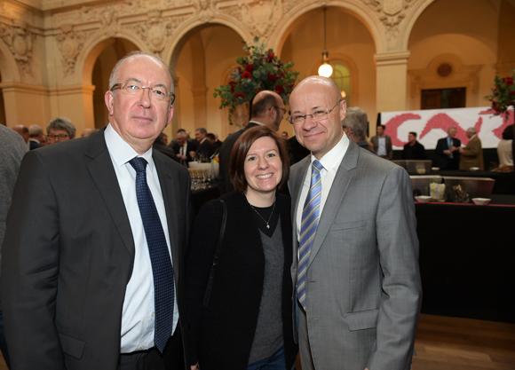 16. Michel Le Ray (Le Progrès), Béatrice Gelly (Dentsu Aegis) et Bruno Colas (Le Progrès)