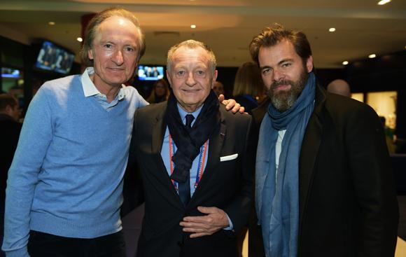 18. Jacques Mottard (Sword), Jean-Michel Aulas, président de l'OL et l'acteur Clovis Cornillac
