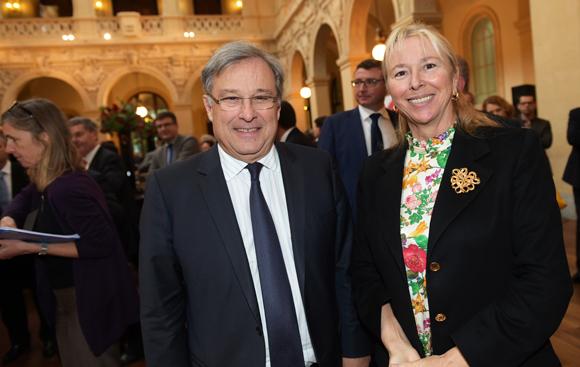 18. Emmanuel Imberton, président de la CCI métropolitaine et Elisabeth Ayrault, présidente de la CNR