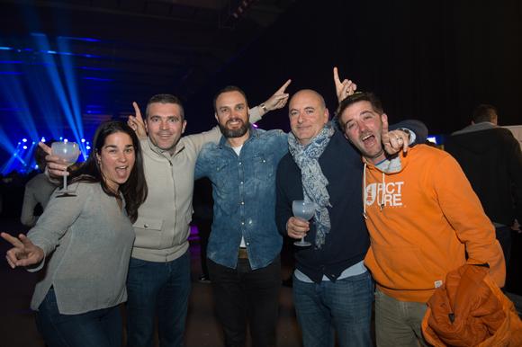 19. Gabrielle Beauquis, Luc Delobel, Loic Normand, Frank Finat (Chamoix sport) et Arnaud Beauquis (moniteur de ski)