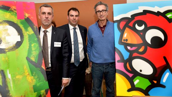22. Eric Langelier, François Lecreff (Lexus) et le comédien Thierry Lhermitte