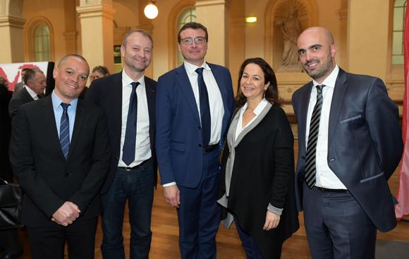26. Hervé Diaite (Préfecture du Rhône), Marco (Lyon People), Sylvain Colas (CNR), Anne-Cécile Colas (RFI) et Thomas San Marco (CNR)