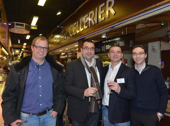 27. Guillaume Souy (Siemens), Jean-Léon Faure (Faure Collecte d'huile), Bertrand Bourgeron (Agence Tous Risques) et Thierry Rousson (Cap Office)