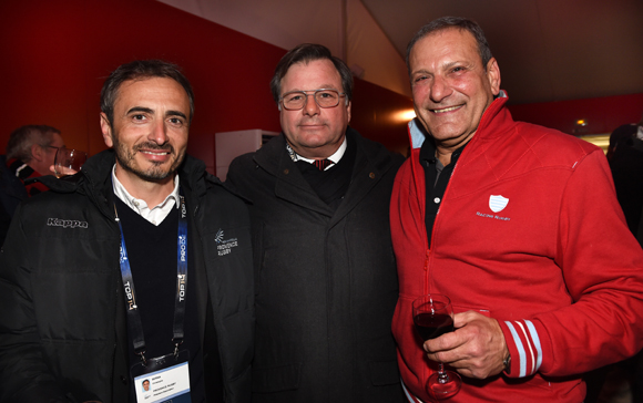 28. Christophe Serna, président d'Aix en Provence Rugby, Franck Isaac-Sibille (LOU Rugby) et Patrick Boulin (Rugby Club)