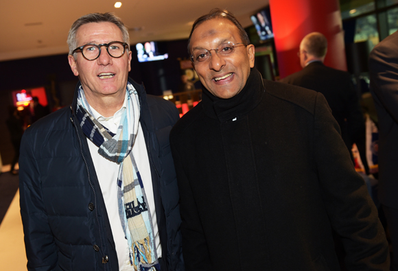 28. Jean-Paul Delperié (Vinci Construction) et Ibrahim Ingar (Association 1000 sourires)