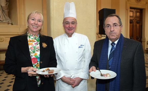 28. Elisabeth Ayrault, présidente de la CNR, Georges Reynon et Michel Delpuech, préfet de Région