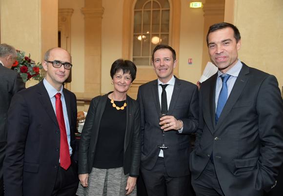 32. Patrick Vauterin (Dreal), Monique Novat (VNF), Philippe Magherin (CNR) et Thierry Saegeman (CNR)