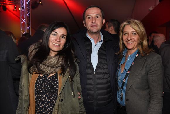 35. Sandra Hubert, Patrice Martinez (Proxim) et Catherine Arbaud (LOU Rugby)