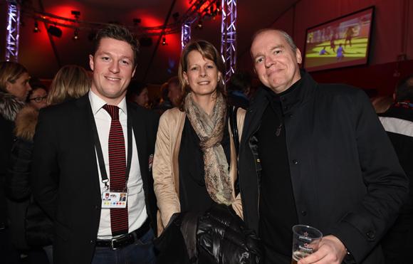 37. Mathieu Renaud (LOU Rugby), Catherine et son époux Alain Ladreyt (Abscisse)
