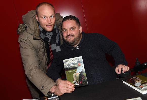 """4. Julien Bonnaire, capitaine du Lou Rugby et Tony Moggio, auteur du livre """"Talonneur Brisé"""""""