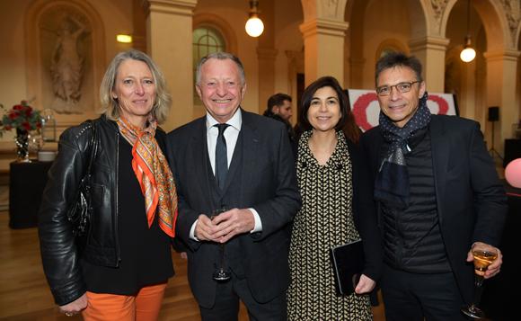 4. Béatrice Ailloud (CNR), Jean-Michel Aulas, président de l'OL, Marie-Cécile Grisard (CNR) et Olivier Bernardeau (OL)