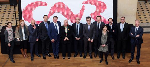 46. Elisabeth Ayrault, présidente de la CNR et son équipe