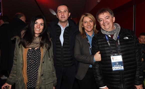 47. Sandra Hubert, Patrice Martinez (Proxim), Catherine Arbaud (LOU Rugby) et Guy Mathiolon, président de Serfim