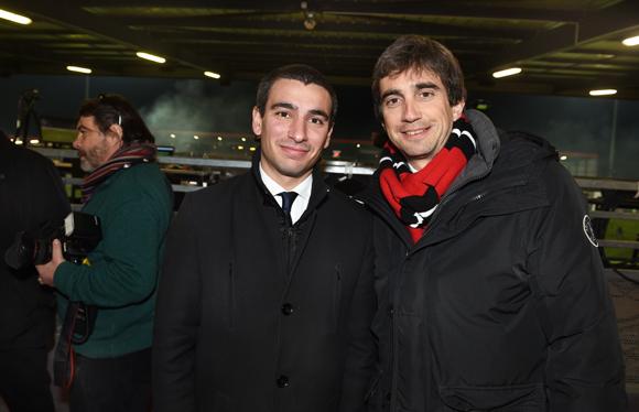 48. Yann Cucherat, adjoint aux sports et Yann Roubert, président du LOU Rugby