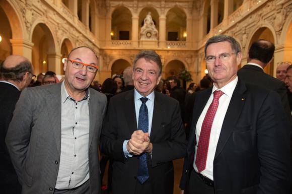 9. Gérard Angel (Les potins d'Angèle), Bernard Fontanel, ancien président du Medef Lyon-Rhône et Christian Gelpi, président de France U.S.A