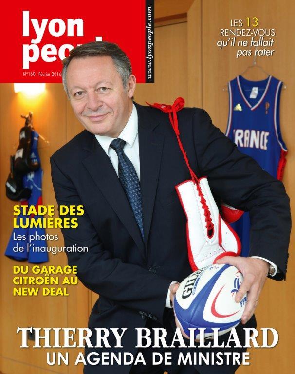 Thierry Braillard en couverture de Lyon People