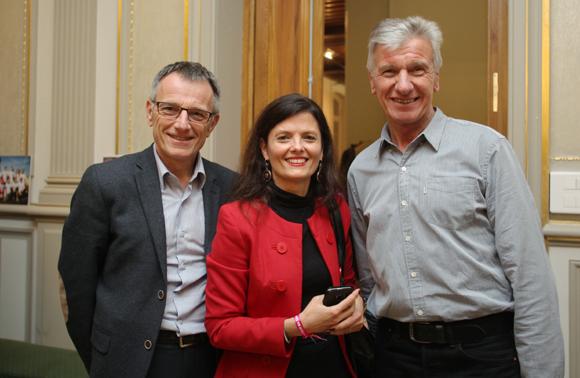 13. Daniel Badoil (Grand Lyon), ambassadeur de Courir Pour Elles, Véronique Reuzeau (This Is Me), responsable de l'accueil des coureuses, Gérard Nawroski, bénévole ravitaillement