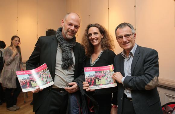 18.  Pierre Tavaud (Eurodatacar), Céline Tavaud (Courir pour Elles) et Daniel Badoil (Grand Lyon), ambassadeur de Courir pour Elles