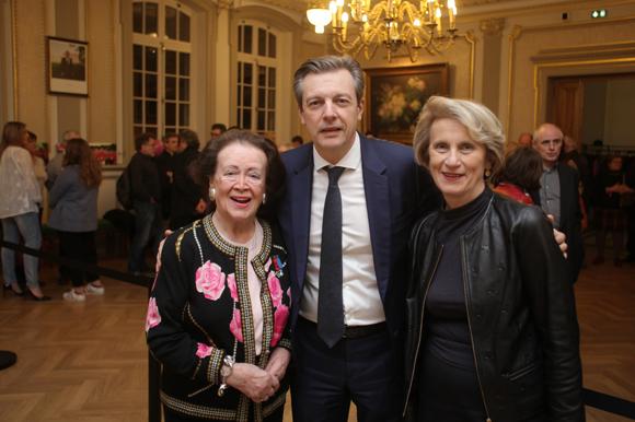 2. Simone André, Pascal Blache, maire du 6ème et Dominique Nachury, député