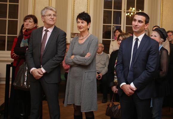 24. Fabienne Levy, Pascal Chopin (JC Decaux), Marie-Thérèse Rabatel et Yann Cucherat, adjoints au maire de Lyon
