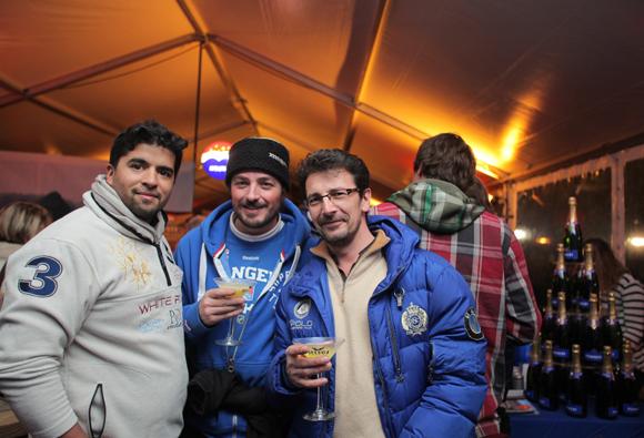 11. Nicolas Bally (Youpijob), Edouard Apertet, responsable service événementiel de Megève et Stessy Lanotte (Megève Esprit Sport)