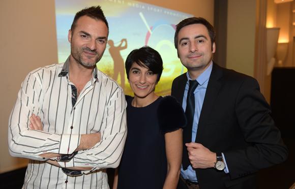 1. Christian d'Aubarède (Tonic Radio), Estelle Verney-Carron (Média Sport Promotion) et Charles Le Roy (Domaine le Lyon Vert)