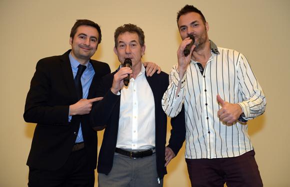 20. Charles Le Roy (Domaine le Lyon Vert), Jean-Claude Pietrocola (Média Sport Promotion) et Christian d'Aubarède (Tonic Radio)
