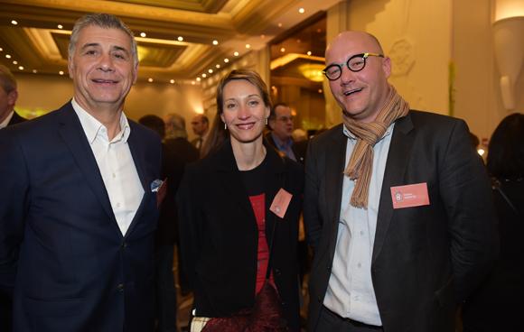 33. Pierre Maillot (LOU Rugby), Ariane Sire et Frédéric Ughetto (Santé Partners)
