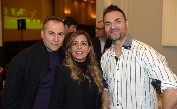 37. Fabrice (Lyon People), Eva Partouche (Domaine le Lyon Vert) et Christian d'Aubarède (Tonic Radio)